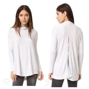 Free People Lover rib split back pullover. Sz SP